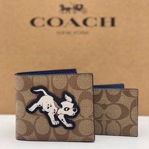 🌸Coach C Disney 3 IN 1 Sig Wallet Dalmatian